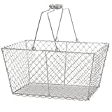 Wire Storage Basket with Handles for Shelves, Pantry - Best Reviews Guide