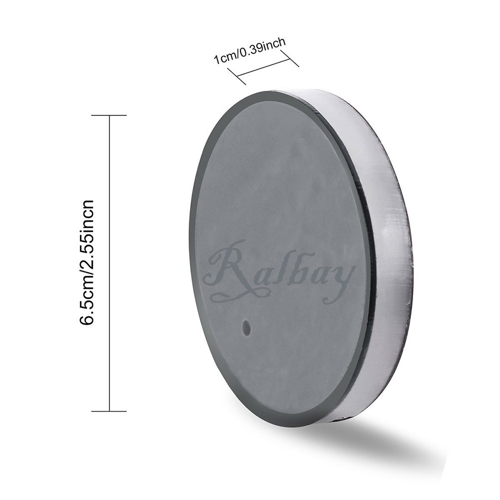 Ralbay Car Styling Cup Holder Pad LED Colour Changing Car Interior Decoration Atmosphere Lights USB Rechargeable Waterproof Drink Coaster for All Cars-Automatically Turn On at Dark/