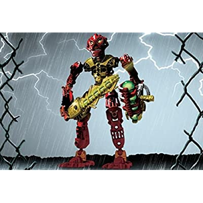 Lego Bionicle Voya Nui Inika Toa Jaller (RED) Set #8727: Toys & Games