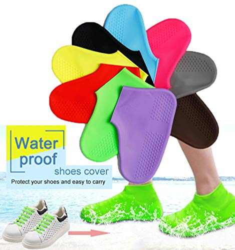 Reusable Boot and Shoe Covers (Medium, white) Silicone Shoe Covers Waterproof And Unlimited Shoe Protectors for Indoor-Outdoor- Extra Thick 2 Pair