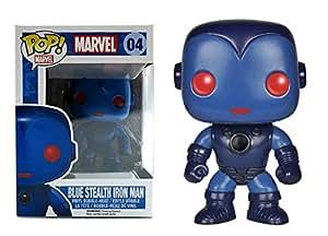 Marvel AZUL DISCRETO IRON MAN Funko Pop!! vinilo Bobble-Head Figura Exclusiva