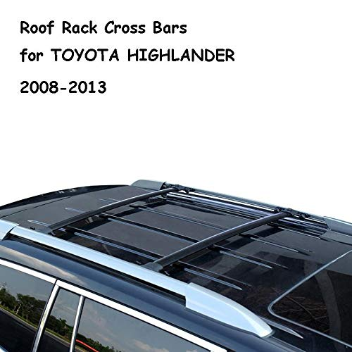 - AUXMART Roof Rack Cross Fit for Toyota Highlander 2008 2009 2010 2011 2012 2013 Highlander Aircraft Aluminum Black - 132LBS / 60KG Capacity