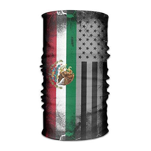 ZQQZ USA Mexico Crack Flag Multifunctional Magic Headwear 12-in-1 Men&Women Tube Scarf Facemask Headbands Neck Gaiter Bandana Balaclava Helmet For Outdoor Running Yoga Work Out