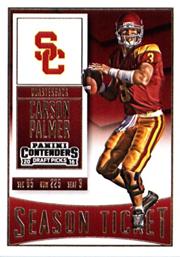 2016 Panini Contenders Draft Picks #20 Carson Palmer USC Trojans Football Card in Protective Screwdown Display Case