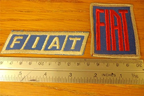 Lot of 2 Different Fiat Embroidered HAT Jacket Patches Automotive Car Auction