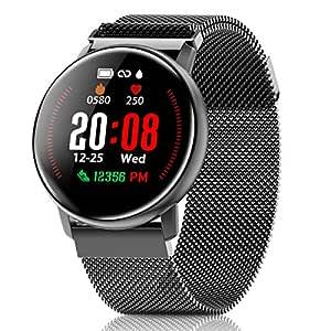 CanMixs Smartwatch, CM12 Reloj Inteligente Pulsera de Actividad Impermeable IP67 Pulsera Inteligente con Podómetro, Monitor de Sueño, SMS Notificación ...
