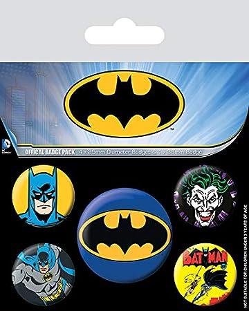 Pyramid International Pack de chapas Batman, Multicolor, 10 x 12.5 ...