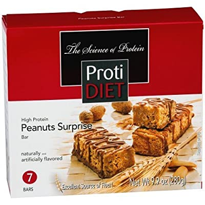 Protidiet Peanut Surprise High Protein Bar 9.9 oz (Box of 7)