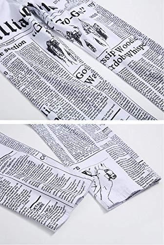 Giovane Ufig Con Pantaloni Casuali Stampa A Bianca In Elasticizzati Lettera Slim Da Uomo Fit Lunghi Cotone qTwvqWPfB