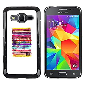 LECELL--Funda protectora / Cubierta / Piel For Samsung Galaxy Core Prime SM-G360 -- Pancake White Minimalist Food --