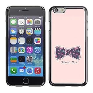 Be Good Phone Accessory // Dura Cáscara cubierta Protectora Caso Carcasa Funda de Protección para Apple Iphone 6 Plus 5.5 // bowtie bow pink text floral baby purple