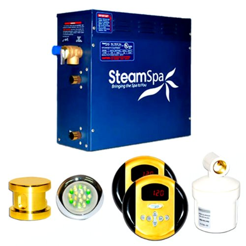 Steam Spa RY900GDC Royal Complete Package with 9kW Steam Generator, Gold - Kilowatt Steam Generator