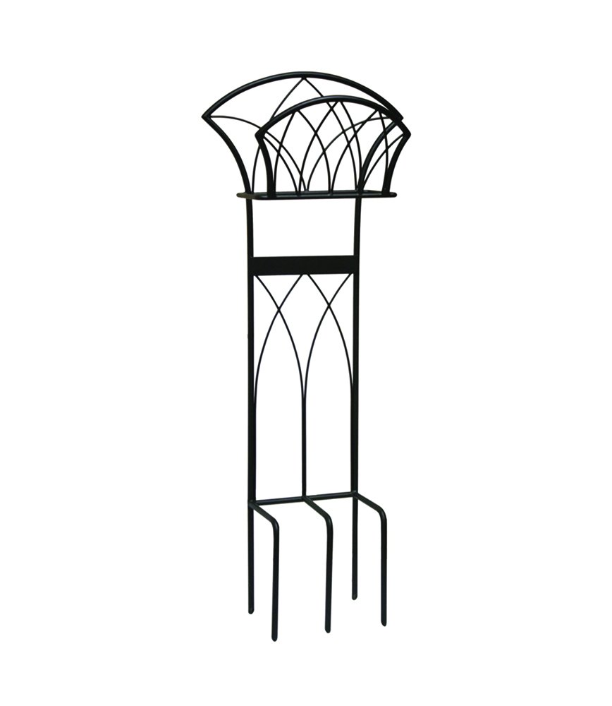 Liberty Garden 116 Decorative Garden Hose Stand, Holds 125-Feet of 5/8-Inch Hose, Black by Liberty Garden Products