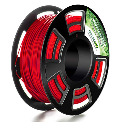 Tactink Pro 1.75mm 3D PLA Printer Filament Red 2.2 lb (1 kg) Spool, Dimensional Accuracy +/- 0.03 by Tactink