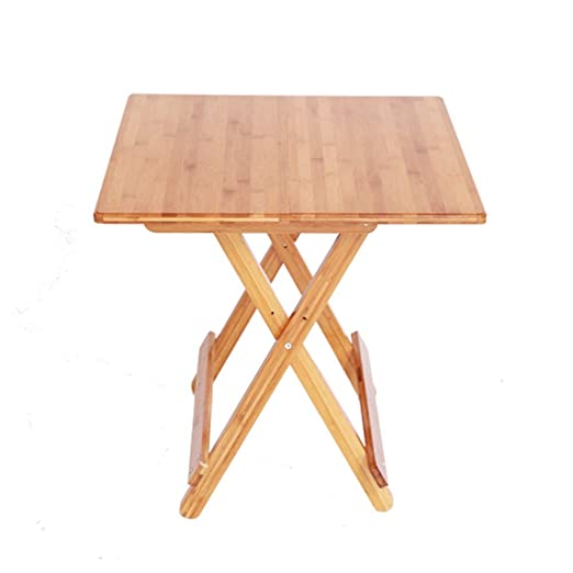 ACZZ Mesa plegable, mesa doméstica de madera, mesa portátil de ...