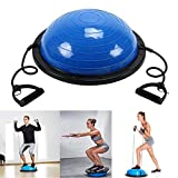 Homgrace Balance Trainer Ball with Resistance Bands, Yoga Fitness Strength Exercise Workout Balance Ball