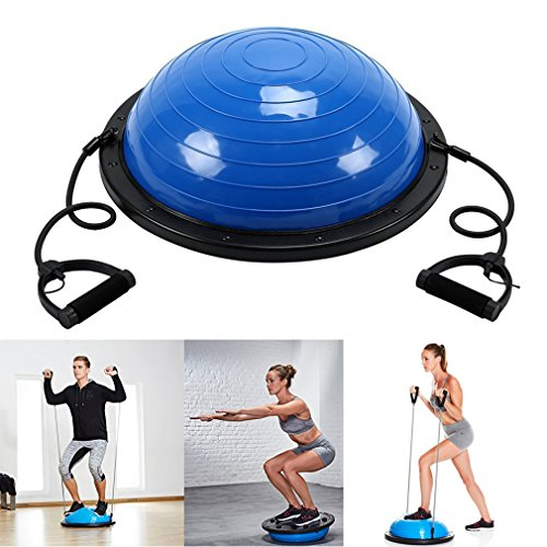 Homgrace Balance Trainer Ball with Resistance Bands, Yoga Fitness Strength Exercise Workout Balance Ball For Sale