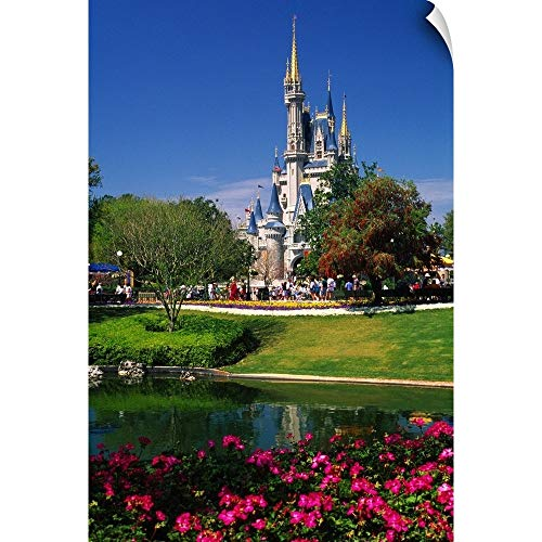 CANVAS ON DEMAND Florida, Orlando, Disney World, Magic Kingdom, Cinderella Castle Wall Peel Art Print, 24