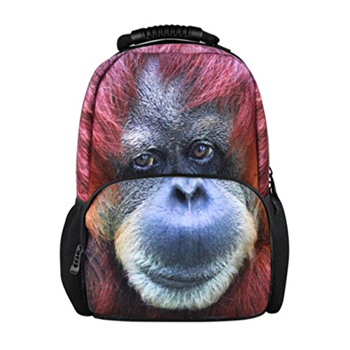 Backpack Students Female Large Capacity Backpack PU Floral Gold - 9