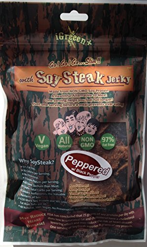 Go Slim with Soy Steak 6 Oz. (Peppered) (Soy Peppered Jerky)