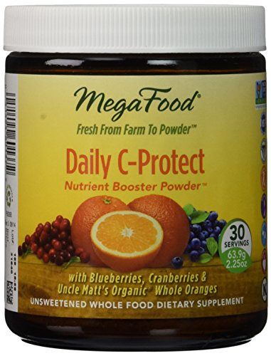 MegaFood - Daily C-Protect Booster Powder Supports Immune Health with Vitamin C 30 Servings 225 oz FFP Discount
