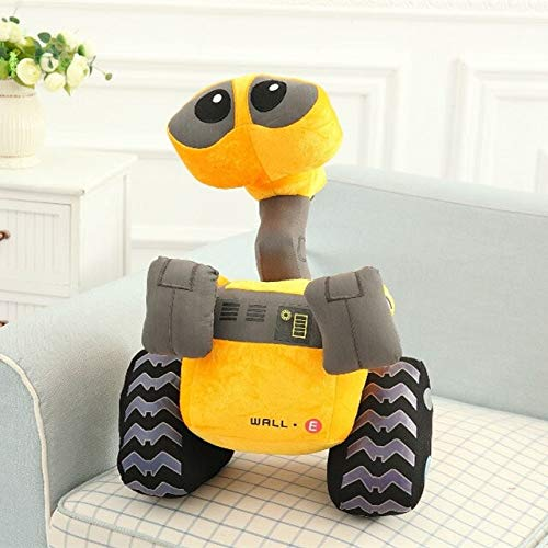PAPCOOL Wall E Plush Toy 13 inch Hot Toys Soft Stuffed Stuff Christmas Halloween Birthday Collectable Gift Movie Cartoon Gifts Stuff Robot Collectible Cute Large Doll Collectibles for Kids -