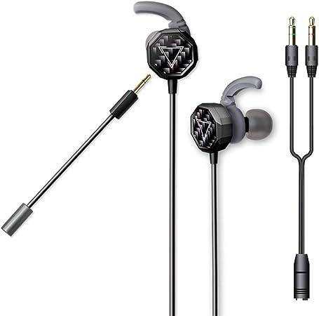 Auriculares in-ear para videojuegos con micrófono desmontable para ...