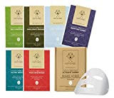 HOMMEFACE Ultimate Combo Korean Sheet Mask Set for Men (6 Sheets) Variety Pack, Hydrating | Soothing | Deep-Cleansing, Paraben-Free