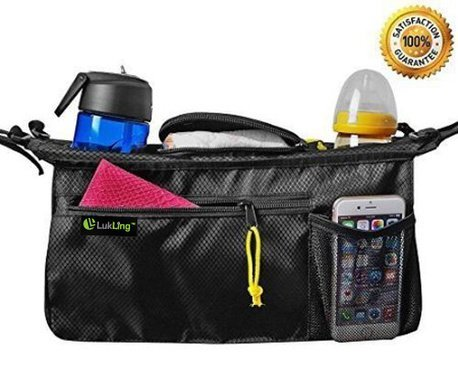 LUKLING Universal Smart Stroller Organizer Bag with 2 - Shoes Baby Gucci