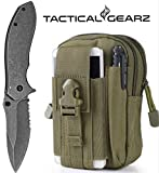 LIGHTNING DEAL!! Tactical Folding Knife, Bravo StoneWashed, 440c Stainless Steel Blade, Spring Assist Open(Army Green) Review