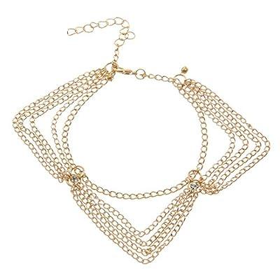 Wholesale XueXian(TM) Womens Rhinastone Wedding Foot Barefoot Chains Bracelets free shipping