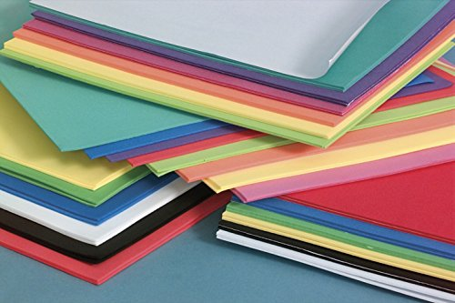 """(Darice Foamies Foam Sheets Multipack – Assorted Bright Colors – Great for Craft Projects with Kids, Classrooms, Camps, Scouts, Parties – 11.8"""" x 17.7"""" Per Sheet, 12 Sheets Per Pack)"""