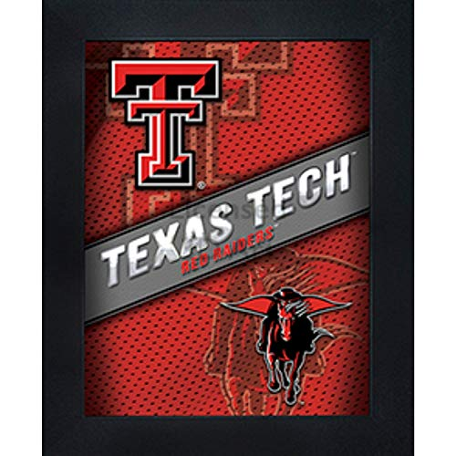 Texas Tech Red Raiders 3D Poster Wall Art Decor Framed Print | 14.5x18.5 | TTU Lenticular Posters & Pictures | Gifts for Guys & Girls College Dorm Room & Bedroom | NCAA Team Fan Guns UP Logo & Mascot (Raiders Red Texas Framed Tech)
