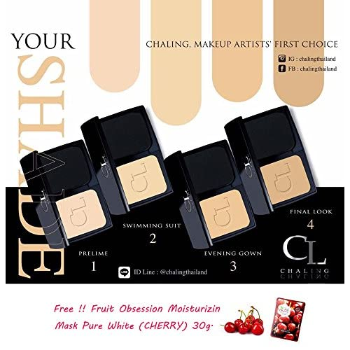 2 UNITS OF CL CHALING PUFF MAKE UP NO.2 SWIMMING SUIT POWDER CONCEALER SMOOTH OIL CONTROL NANO COLLAGEN SPF 30 PA +++ [GET FREE TOMATO FACIAL MASK]