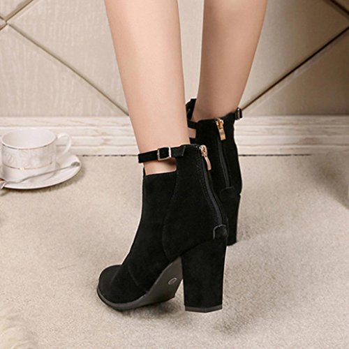 Noir Women lacets Ankle ville de Boots pour Chaussures femme à MML vfAdqq