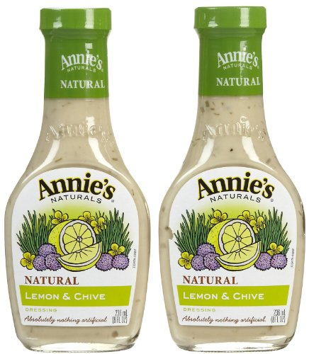 Annie's Homegrown Lemon & Chive Dressing (No Vinegar) - 8 oz - 2 pk Vinegar Free Dressing