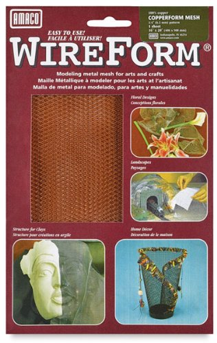 Amaco 16 x 20 inch Copper Mesh Wire Form Metal Mesh Sheet (Pack of 2) RS432310