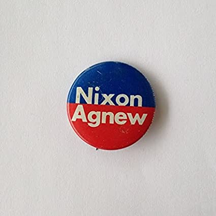 3 Richard Nixon Spiro Agnew Campaign Button Pin Back Tab Presidential Political