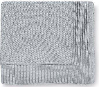 Pirulos 28013510 - Toquilla tricot texturas, 110 x 140 cm, color gris: Amazon.es: Bebé