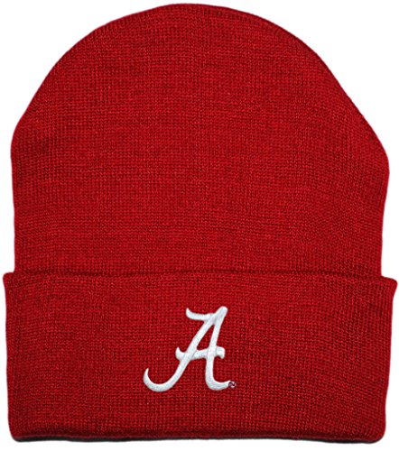 Crimson Embroidery - University of Alabama Crimson Tide Newborn Knit Cap Crimson One Size