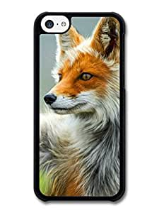 MMZ DIY PHONE CASEWhite & Orange Cute Fox Portrait case for iphone 6 plus 5.5 inch