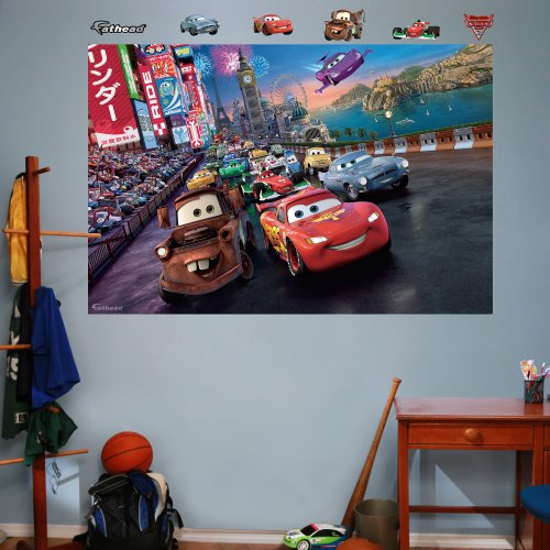 Car Wall Graphic - FATHEAD Cars 2 Parade Mural Graphic Wall Décor