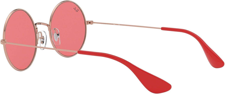 RB RB3592 Ja-Jo Sunglasses Shiny Copper//Green Mirror Red 55mm /& Care Kit