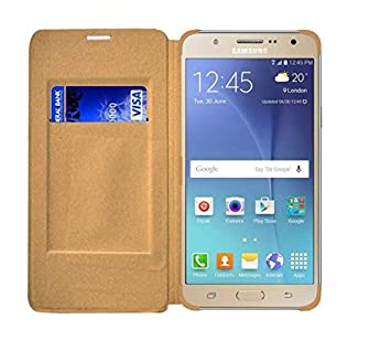 COVERNEW Leather Flip Cover for Samsung Galaxy On Nxt   SM G610FZDHINS     Golden 1 FlipLeatherSamOnNxtGold