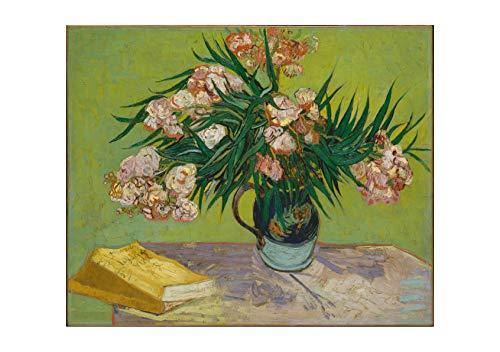 Spiffing Prints Vincent Van Gogh Majolica Jar with Branches of Oleander, 1888 - Large - Semi Gloss - Framed
