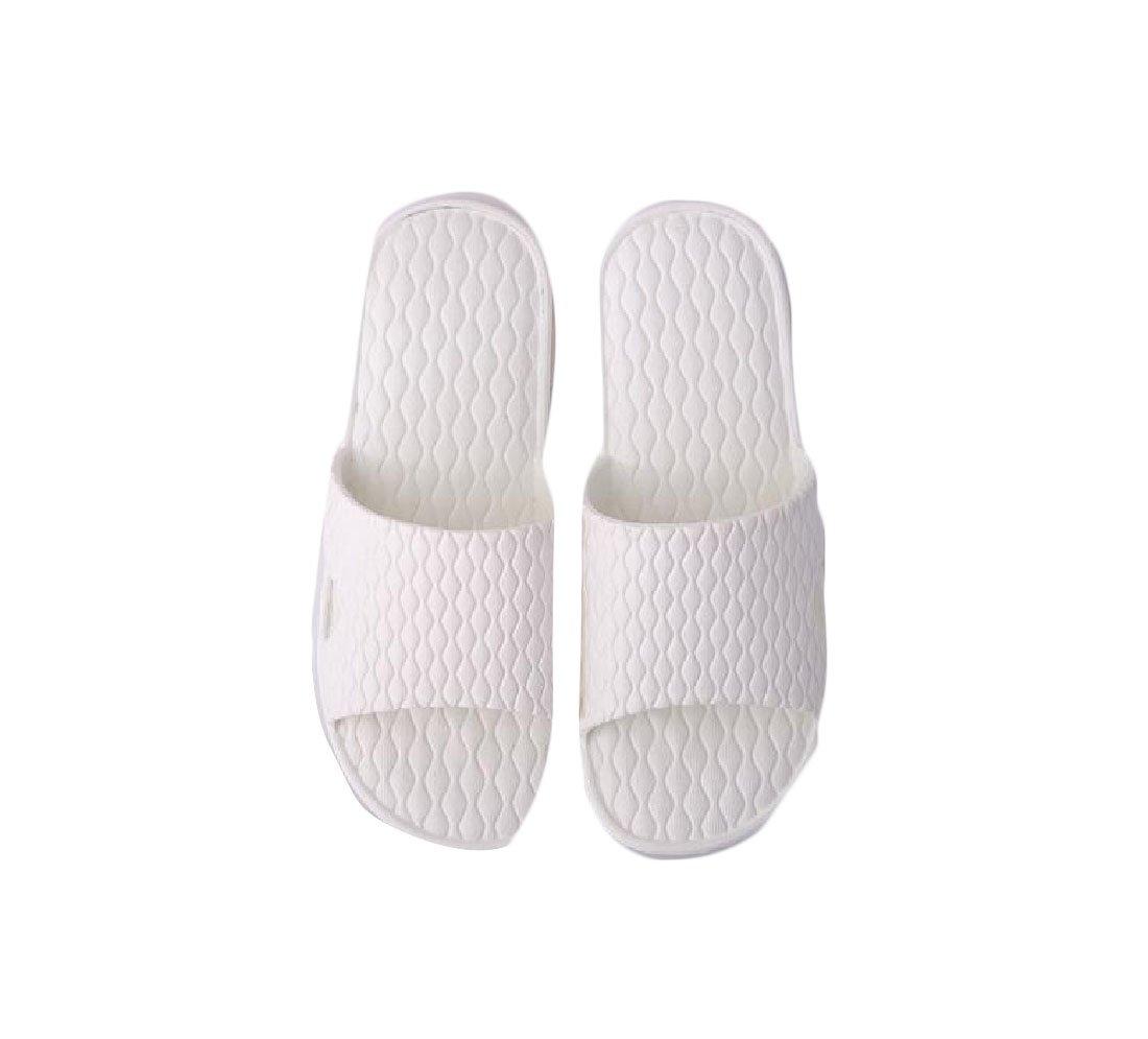 Abetteric Women's Bathroom Slides Non-slip Cozy Mule Summer Shoes House Slippers White 6.5B(M)