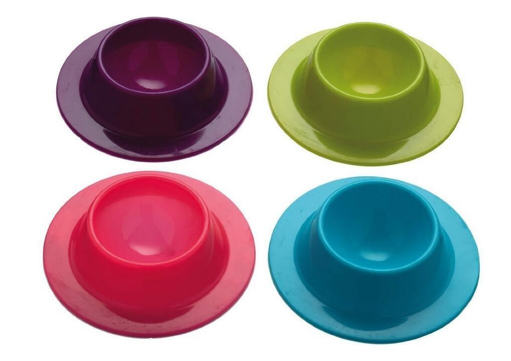 4x Demarkt Eierkörbe Eierbecher Set aus Silikon Durchmesser 86MM * 23MM Hoch zufällige Farbe