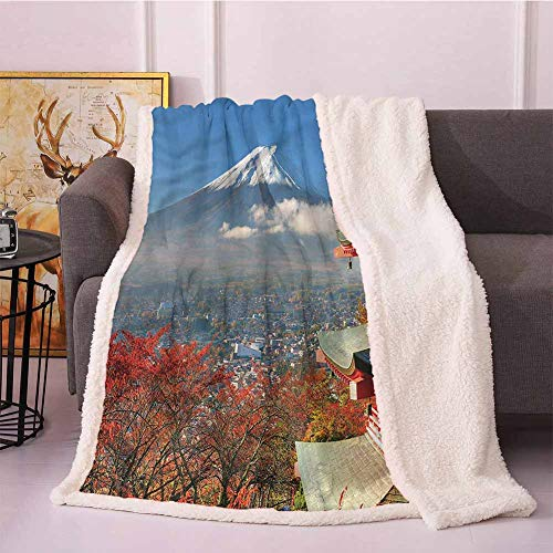 Miles Ralph Soft Blanket Soft Throw Blankets Fuji Mountain View,Japanese History Blanket Cover 50