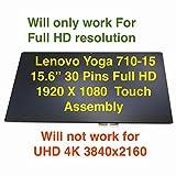 Lenovo Yoga 710-15IKB 80V5 710-15ISK 80U0 710 15'' Touch Digitizer, 15.6'' IPS FHD LCD and Bezel Display Assembly p/n: 5TD50K85364 5D10K81093 N156HCA-EA1