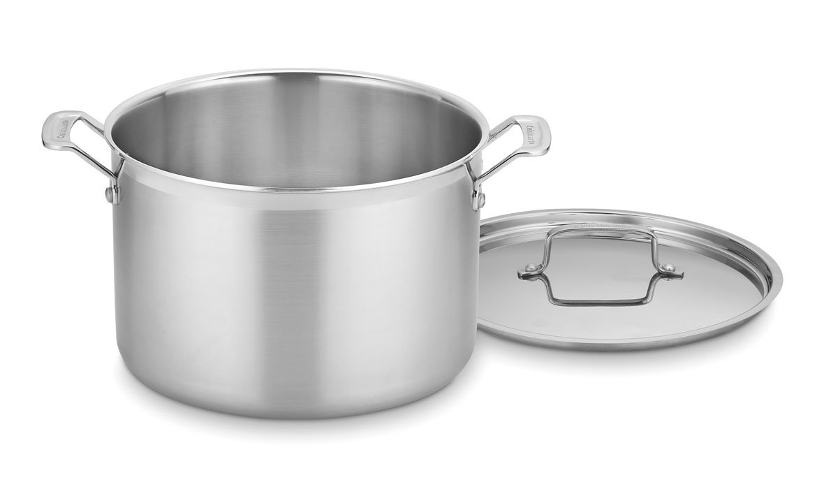 CUISINART MCP44-24N MultiClad Pro Stainless 6-Quart Saucepot with Cover, Silver